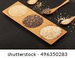 quinoa  chia and amarantus... | Shutterstock . vector #496350283