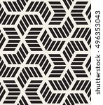 vector seamless pattern with... | Shutterstock .eps vector #496353043