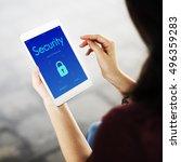 digital security lockscreen... | Shutterstock . vector #496359283