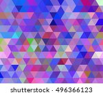 abstract triangle violet... | Shutterstock .eps vector #496366123