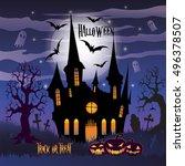 halloween. trick or treat.... | Shutterstock .eps vector #496378507