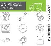 universal line icons set  web...