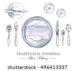 traditional informal place... | Shutterstock . vector #496413337