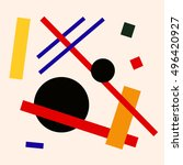 abstract suprematism... | Shutterstock .eps vector #496420927