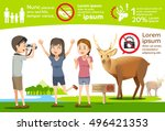 photography with wildlife.... | Shutterstock .eps vector #496421353