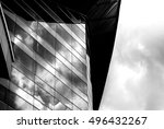 windows of business building in ... | Shutterstock . vector #496432267