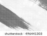 grunge distressed halftone... | Shutterstock . vector #496441303