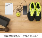 sports accessories for fitness... | Shutterstock . vector #496441837
