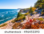 View Of The Maine Coastline At...