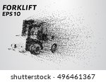 forklift of the particles. the... | Shutterstock .eps vector #496461367