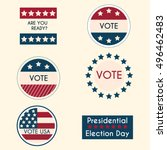 set of vintage retro election... | Shutterstock .eps vector #496462483