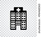 hospital  icon   Shutterstock .eps vector #496468363