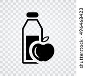 healthy food icon | Shutterstock .eps vector #496468423