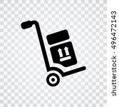 hand truck icon  | Shutterstock .eps vector #496472143