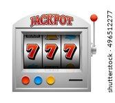 casino slot gambling machine...   Shutterstock .eps vector #496512277