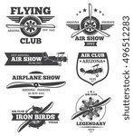 vector aviation badges  avia... | Shutterstock .eps vector #496512283