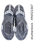 sole of of special contact shoe ... | Shutterstock . vector #496521367