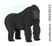 gorilla illustration | Shutterstock .eps vector #496528213