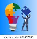 last part of the solution... | Shutterstock .eps vector #496537153