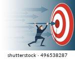 accomplishment   reaching...   Shutterstock .eps vector #496538287