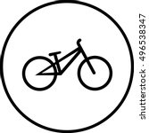 bicycle icon on white background | Shutterstock .eps vector #496538347