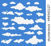 illustration of clouds... | Shutterstock . vector #496542127