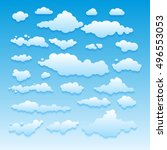 blue sky with clouds nature art | Shutterstock . vector #496553053