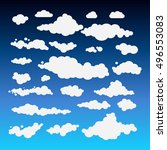 illustration of clouds... | Shutterstock . vector #496553083