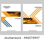 vector brochure cover templates ... | Shutterstock .eps vector #496574947