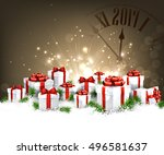 2017 new year background with... | Shutterstock .eps vector #496581637