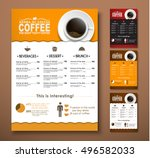 design a menu for the cafe  a... | Shutterstock .eps vector #496582033