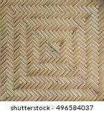 woven bamboo  | Shutterstock . vector #496584037