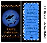 template for happy halloween...   Shutterstock .eps vector #496588147