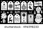 christmas holiday icons  tags ... | Shutterstock .eps vector #496598233