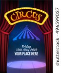 circus show poster template... | Shutterstock .eps vector #496599037