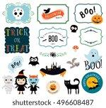 halloween design elements. | Shutterstock .eps vector #496608487