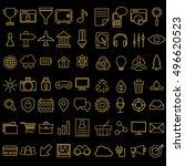 set of vector linear media...   Shutterstock .eps vector #496620523