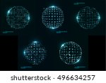 abstract technological... | Shutterstock .eps vector #496634257