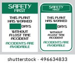 accidents are avoidable.safety...   Shutterstock .eps vector #496634833