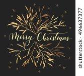vector hand written greeting... | Shutterstock .eps vector #496637377