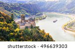 magnificent rhine valley with... | Shutterstock . vector #496639303