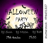 vector invitation to halloween... | Shutterstock .eps vector #496651327