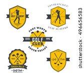 golf vintage emblems  logos ...   Shutterstock .eps vector #496656583