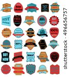 set of thirty vector badges... | Shutterstock .eps vector #496656757