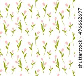 Tulip Seamless Pattern Vector