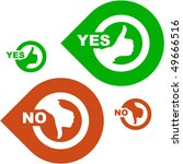 yes and no icon. vector set. | Shutterstock .eps vector #49666516