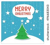 merry christmas greeting card... | Shutterstock .eps vector #496683043