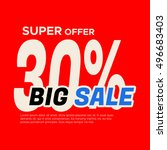 big sale banner. sale and... | Shutterstock .eps vector #496683403