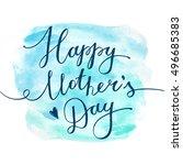 happy mothers day  vector... | Shutterstock .eps vector #496685383
