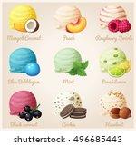 cartoon vector icons. ice cream ... | Shutterstock .eps vector #496685443